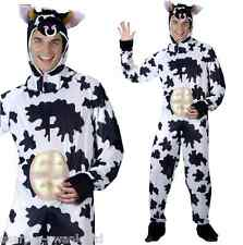 Mens Black and White Cow Farm Animal Stag Do Funny Fancy Dress Costume Outfit
