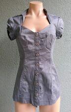 Women GUESS Casual Shirt Blouse Top Cotton Grey Size S Buy7=FreePost L345
