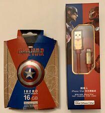 Marvel Infothink Captain America Civil War 16gb iPhone Metal Flash Drive & Cable