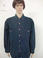 Mens Levis Size XL Dark Blue Very Heavy Long Sleeve Button Front Insulated Shirt