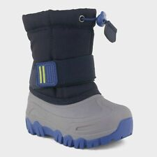 New Cat & Jack Barrett Winter Boots Navy Toddler Boys Shoe Size 4