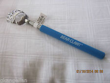 "ONE ""BLUE"" BEAR CLAW TELESCOPIC BACK SCRATCHER, EXTENDABLE TO 23"""