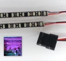Luz LED Modding PC caso púrpura (doble 20CM Tiras) Molex 60CM colas Dbl Densidad