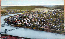 1910 Postcard: Bird's Eye View, East End - Oil City, Pennsylvania PA