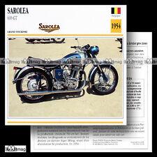 #025.09 SAROLEA 600 GT 1954 Fiche Moto 50's Classic Bike Motorcycle Card