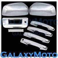 07-13 Chevy Silverado Chrome Mirror+4 Door Handle+Tailgate W/KH no Camera Cover