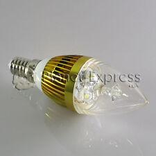 Bombilla 3W LED E14 Vela Blanco Frio Color Oro 220V 240 lumen equiv. 25W 30W