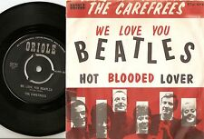 THE CAREFREES WE LOVE YOU & HOT BLOODED LOVERS DANISH 45+PS 1963 THE BEATLES