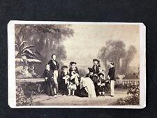 More details for victorian carte de visite cdv: caldesi blanford: queen victoria & family 1857