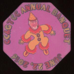 ARCHIE BLACK OCTAGON CASINO GAMBLING POKER CHIP ccgtcc