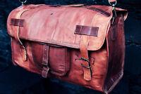 Unisex Leather Handmade Vintage Duffle Luggage Weekend Gym Overnight Travel Bag