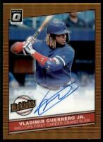 2020 Donruss Optic Highlights Auto Orange #HS-VGJ Vladimir Guerrero Jr. /20