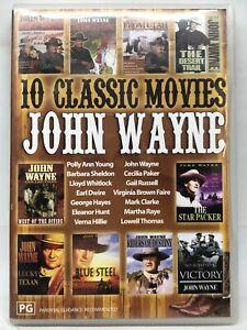10 Classic John Wayne Movies - 4 DVD Set - AusPost with Tracking