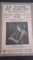 Revista Le Guía de La Concierto Y Las Sketches Letra 1930 N º 21 M. Casimir