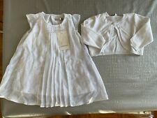 CATIMINI 6 months baby girl white Baptism/Christening dress + cardigan (other)