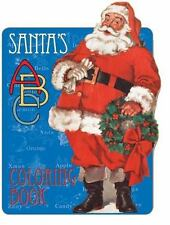 Santa's ABC Coloring Book Christmas New Christmas Repro of vintage book