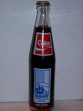 10 OZ COCA COLA COMMEMORATIVE BOTTLE - 1986 ALBANY NY TRICENTENNIAL 1686-1986