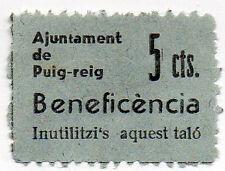 Sello Local Guerra Civil Puig-reig -Cat. Guillamon 1130.  ORD:1068
