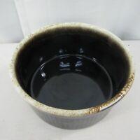 "Vtg PFALTZGRAFF 408 Souffle Casserole Baking Dish Brown Drip Glaze 8.5"" X 4"""
