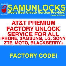 Fast FACTORY UNLOCK CODE AT&T IPHONE X 8 7 6+ 6S plus 5S 5C 4S SE ATT Samsung