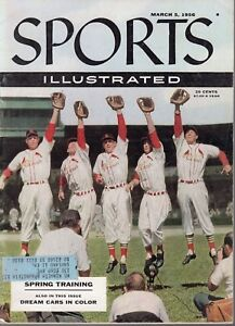 1956 3/5 Sports Illustrated Baseball magazine Stan Musial St. Louis Cardinals VG