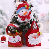 Eg _ Carino Natale Babbo Pupazzo di Neve Alce Bambini Regalo Candy Apple Tessuto