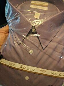 Purple Roundtree & Yorke Gold Label Shirt - Men's - NWT, $75 retail 18.5 x 36/37