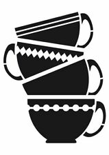 Cups Coffee Mugs stencil - A4/A5/A6