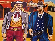 DEADWOOD PAINTING hbo western series wild bill hickok carradine olyphant mcshane
