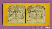 VUE STÉRÉO VIEW PANOPTIQUE COLOR : EXPO UNIV. 1889,  ASIE, COMBAT DE COQS -L91