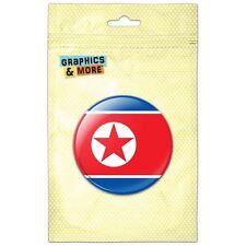North Korea National Country Flag Pinback Button Pin Badge