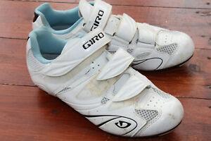 Women Ladies white GIRO Road Cycling Shoe EU 40 UK6 spd Sante