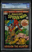 Amazing Spider-Man #104 (1972) CGC Graded 7.5 ~ Ka-Zar ~ Zabu ~ Gog ~ Kraven