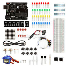 SainSmart Arduino Basic Learning Kit with UNO R3 LED Breadboard Servo LEDs (SHO)