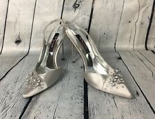 Nina New York Shoes Size 6.5 Silver Women's Point Toe Kitten Heel