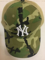 BUDWEISER CAP HAT MILITARY CAMO NY NEW YORK YANKEES CAMOUFLAGE 2018 7/28/18 SGA