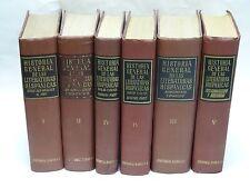 6 Vol SET HISTORIA GENERAL DE LAS LITERATURAS HISPANICAS BARBA BARCELONA 1949