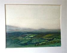 """Otto B. De KAT(1907-1995): aquarelle """"Vallée de Cheylade"""", 1960,24x32cm, signée"""