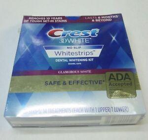 Crest 3D No Slip Whitestrips Glamorous White 28 strips 14 treatments - Exp 01/23
