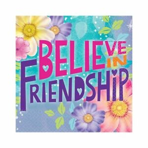 "16 Disney Tinkerbell Fairies Birthday Party 5"" Beverage Napkins Believe Flowers"