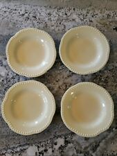 Set of 4 Pottery Barn Replacement Salad Bowls Emma Yellow / Butter Discontinued