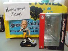 NIB AJ HAWK GREEN BAY PACKERS SILVER COIN BASE BOBBLEHEAD WHITE JERSEY