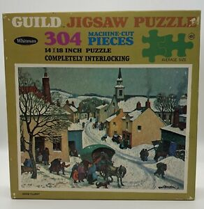"Unopened Vintage ""Snow Flurry"" Paul Lemasson Jigsaw Puzzle Whitman Guild 304 pc"