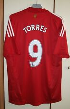 Liverpool 2006 - 2008 Home football shirt jersey Adidas size L #9 Torres