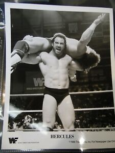 WWF Hercules 1988 Titan Sports B&W Promo Photo