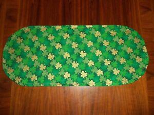New St. Patrick's Day Shamrock Sm Table Runner-Toilet Tank Topper-Shelf-Dresser