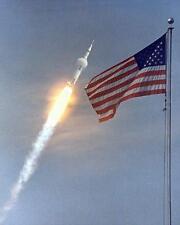 Apollo 11 Launch to Moon NASA American Flag art print picture FREE BONUS PHOTO