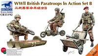 Bronco Cb35192 - 1/35 WWII British Parattroops In Action Set B  - Neu