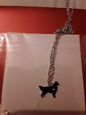 boho silver plated soviet hunting wolf dogs pendant necklace
