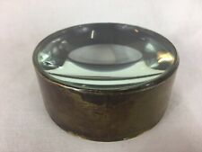More details for substantial antique brass table magnifying glass / paper weight